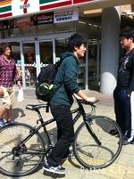 白鳥くんと自転車